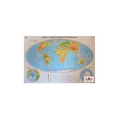 Produkt Świat. Mapa ogólnogeograficzna (fizyczna) / do ćwiczeń. Mapa ścienna świata, marki Nowa Era