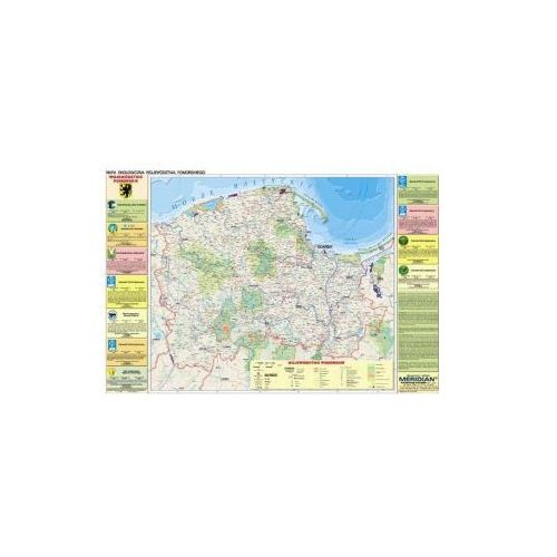 Produkt Województwo pomorskie. Mapa ścienna, fizyczna / ekologiczna województwa pomorskiego, marki Meridian