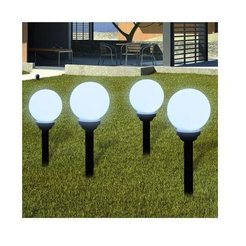 Ogrodowe lampy solarne LED 15cm, 4szt z uziemieniem Spike, vidaXL