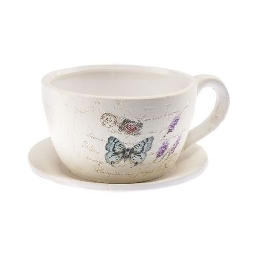 Osłonka ceramiczna filiżanka 15cm z podstawkiem - sprawdź w CitiHome.pl