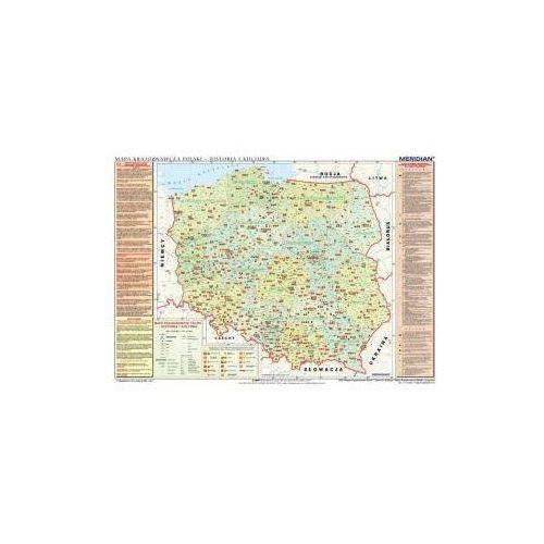 Produkt Mapa krajoznawcza Polski - historia i kultura/przyroda. Mapa ścienna., marki Meridian