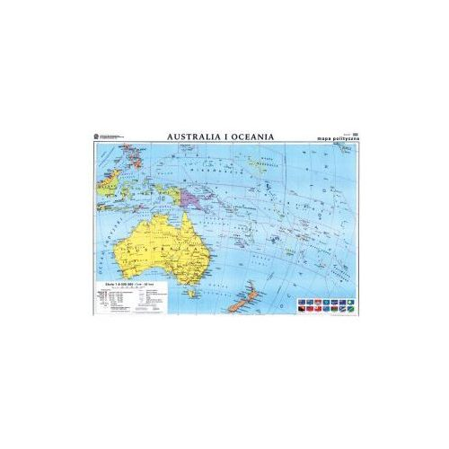 Produkt Australia. Mapa polityczna / konturowa. Mapa ścienna Australii, marki Nowa Era