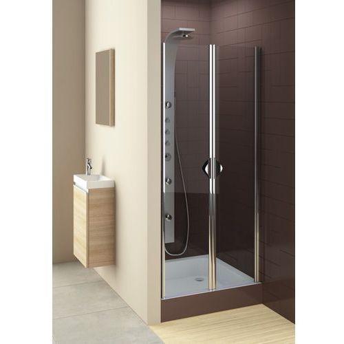 AQUAFORM GLASS5 Drzwi wahadłowe 90, profile chrom, szkło transparentne 103-06357 (drzwi prysznicowe)
