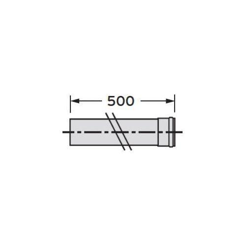Oferta Vaillant Rura przedłużająca 0,5 m (Ø 80), PP z kat.: ogrzewanie