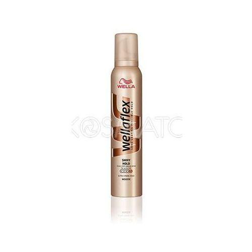 Produkt z kategorii- pozostałe kosmetyki do włosów - Wellaflex Shiny Hold (Połysk i Trwałość) Pianka, 200 ml