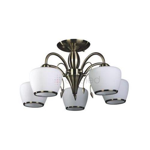 Artykuł IMOLA lampa wisząca 5 x 60W E27 PATYNA / BIAŁY z kategorii lampy wiszące