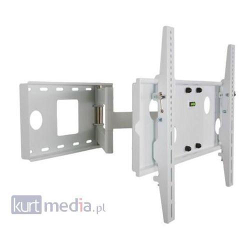 Uchwyt jednoramienny do lcd/pdp 30-54'' uchylny/obrotowy max.50kg biały od producenta 4world