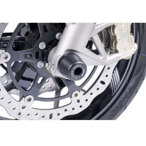 Protektory osi koła przedniego PUIG do Aprilia Caponord 1200, Shiver 750, RSV4 z kategorii crash pady motocyklowe