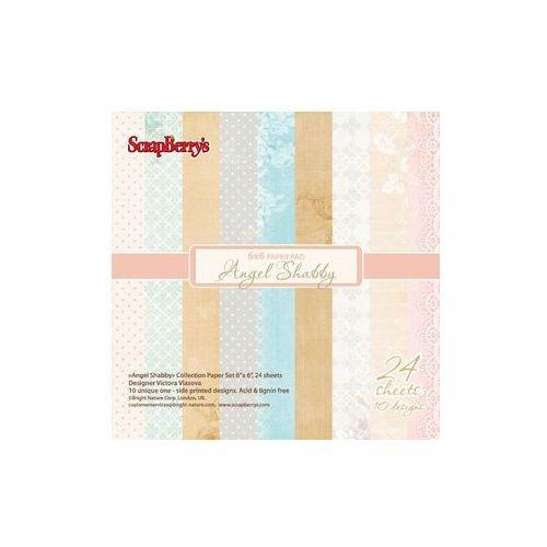 Oferta Zestaw papierów ANGELS SHABBY 24 arkusze 15,2x15,2 cm