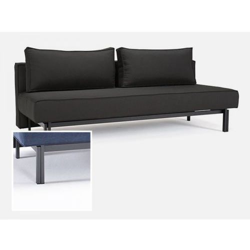 Sofa Sly czarna 218 nogi stalowe szare  543071CN218218-02-543070-9, INNOVATION iStyle