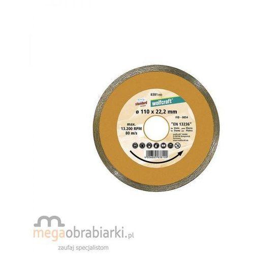 WOLFCRAFT Tarcza tnąca diamentowa Standard-Ceramic 110 x 22,2 mm RATY 0,5% NA CAŁY ASORTYMENT DZWOŃ 77 415 31 82 ze sklepu Megaobrabiarki - zaufaj specjalistom
