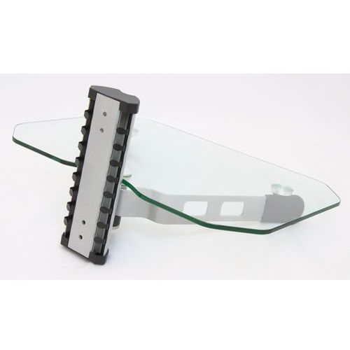DVD2 - Półka AUDIO, VIDEO, DVD, hartowane szkło i aluminium, max udźwig 10kg z kat.: półki rtv