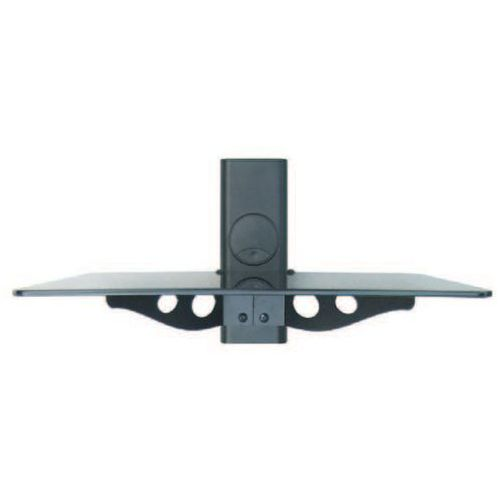 GLAS1 - Półka AUDIO, VIDEO, DVD hartowane szkło i aluminium, max udźwig 15kg, czarna z kat.: półki rtv