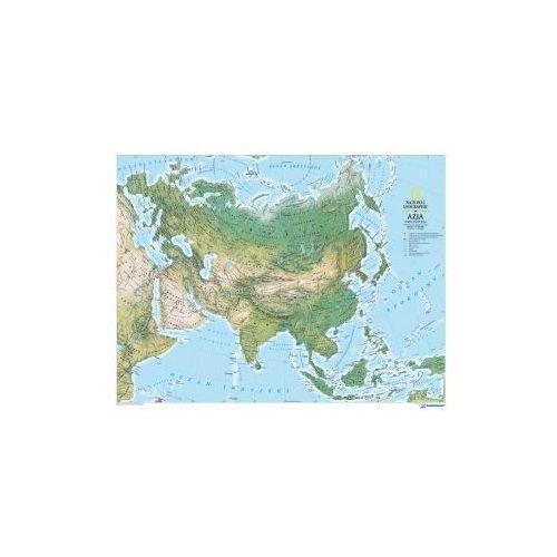 Produkt Azja - Euroazja mapa fizyczna. Mapa ścienna Azji i Europy., marki National Geographic