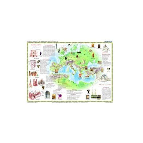 Produkt Wielkie cywilizacje średniowiecza - kultura i sztuka. Mapa ścienna., marki Meridian