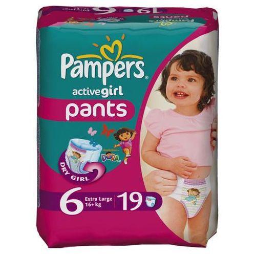 Pieluszkomajtki PAMPERS, Active Girl, Extra Large, 16+ kg, 19 sztuk, kup u jednego z partnerów