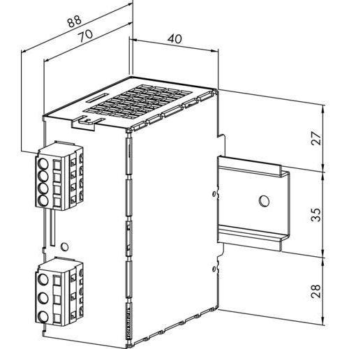 Artykuł Zasilanie WAGO 787-602 787-602, 24 V/DC (SELV) z kategorii transformatory