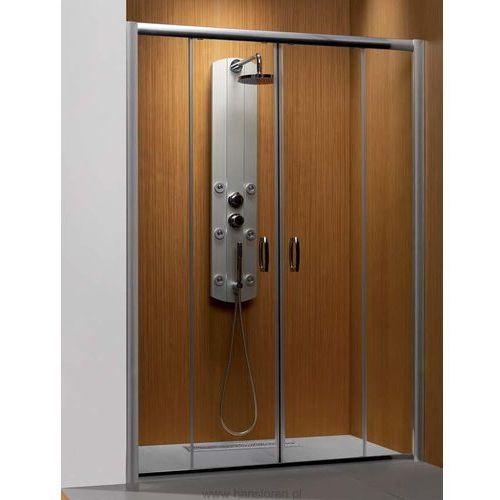 Oferta Premium Plus DWD 1600 Radaway drzwi wnękowe dwuczęściowe 1572-1615x1900 chrom szkło brązowe - 3336
