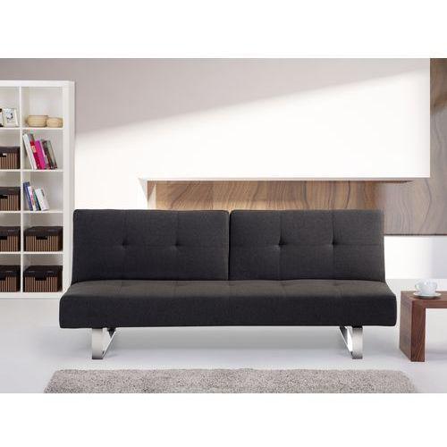 Rozkladana sofa ruchome oparcie - DUBLIN ciemny szary, Beliani