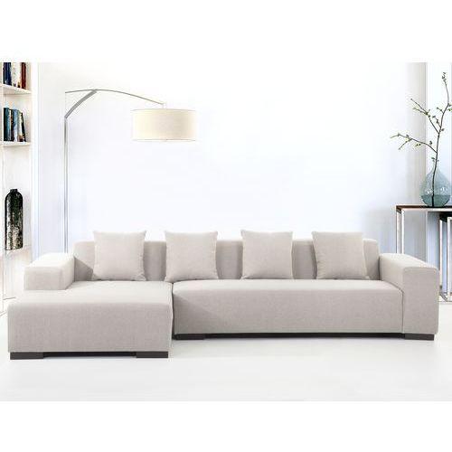 Sofa bezowa - sofa narozna R - tapicerowana - LUNGO, Beliani