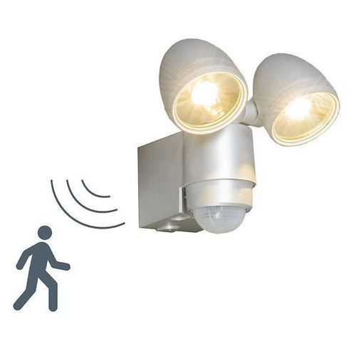 Lampa zewnętrzna VAP Duo srebrna z panelem słonecznym od lampyiswiatlo.pl