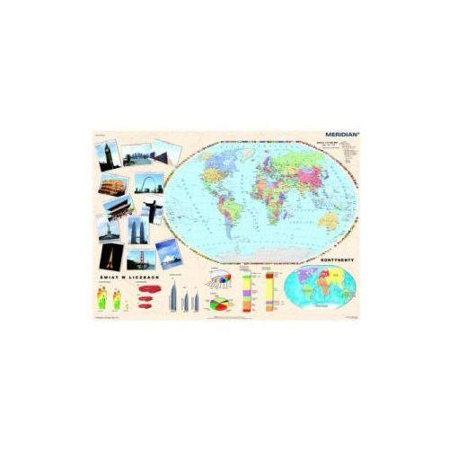 Produkt Świat w 2008 roku. Mapa ścienna świata., marki Meridian