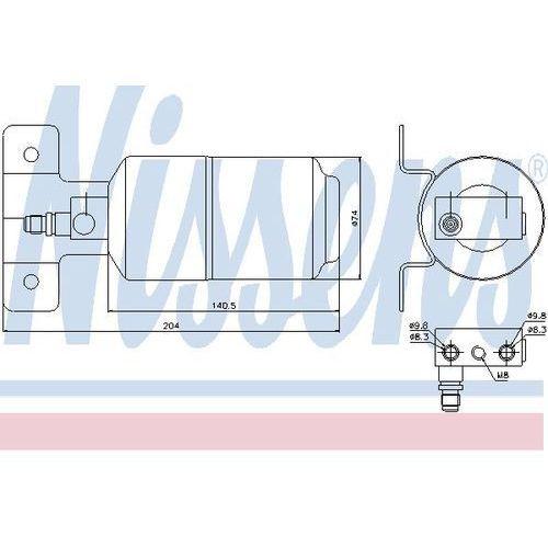 Towar z kategorii: osuszacze powietrza - Osuszacz, klimatyzacja NISSENS 95169