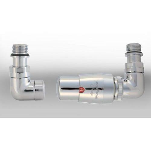 Zestaw instalacyjny vision termostatyczny wersja osiowa prawa chrom wyprodukowany przez Varioterm