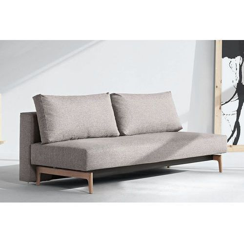 Istyle Trym Sofa Rozkładana, szara tkanina 521, nogi drewniane - trym745021521-01