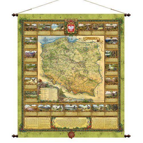 Polska przyroda mapa ścienna , produkt marki Pergamena