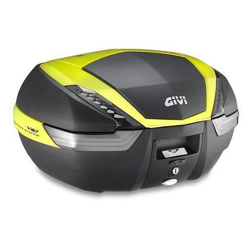 Kufer Givi V47NNTFL (czarny, 47 litrów, szare odblaski, pokrywa karbonowa, dodatki żółte) - oferta [056a4777671585b1]