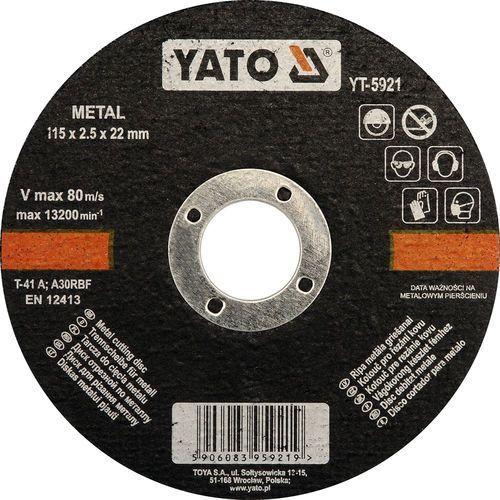 Oferta Tarcza do cięcia metalu 115x2,5x22 mm YT-5921
