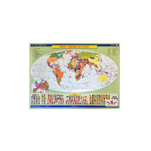 Produkt Świat. Mapa ścienna świata. Ukształtowanie powierzchni / Podział polityczny, marki Nowa Era