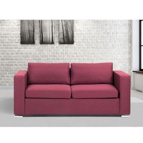 Sofa burgundowa - trzyosobowa - kanapa - sofa tapicerowana - HELSINKI, Beliani