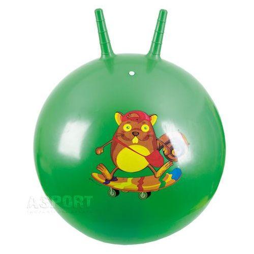 Piłka skacząca z rogami 60cm SQUIRREL zielona , produkt marki Spokey