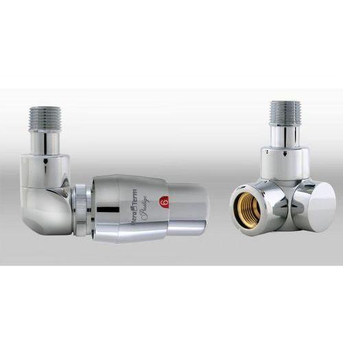 Zestaw instalacyjny lux 1 do grzejnika łazienkowego wersja osiowa lewa chrom wyprodukowany przez Varioterm