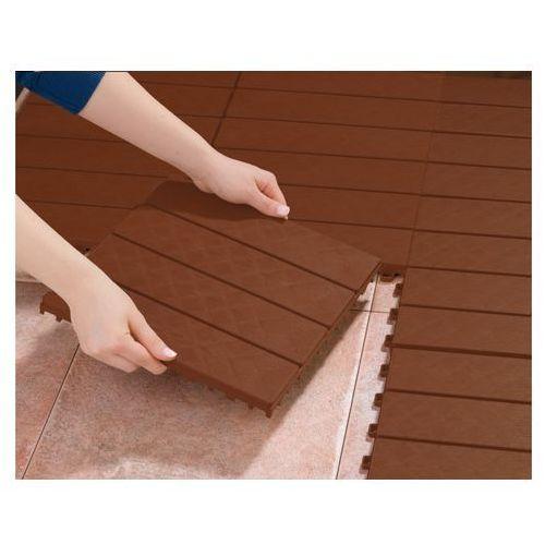 System płytek podłogowych łączonych na wtyk, w kolorze drewna - oferta [25846b29f5f575e3]