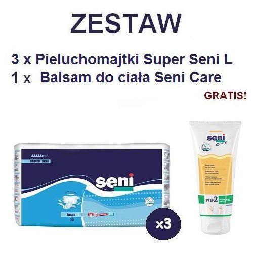 Produkt Pieluchomajtki Super Seni (3) Large 3op. x 30szt + Balsam Seni Care