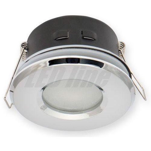 LED line Oprawa oprawka led halogenowa wodoodporna stała okrągła kolor chrom IP65 245435 z kategorii oświetlenie