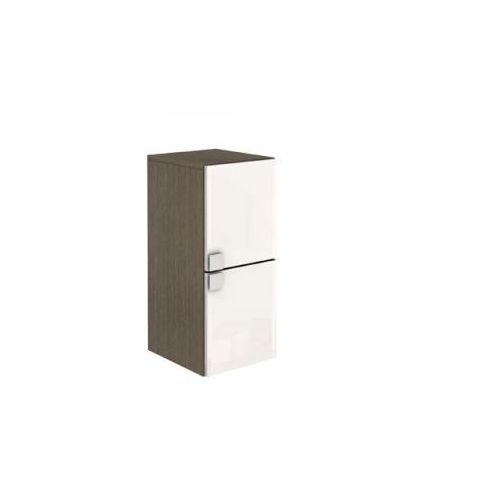KOŁO szafka wisząca boczna niska Primo biały połysk/orzech szary - półsłupek 88374 - produkt z kategori