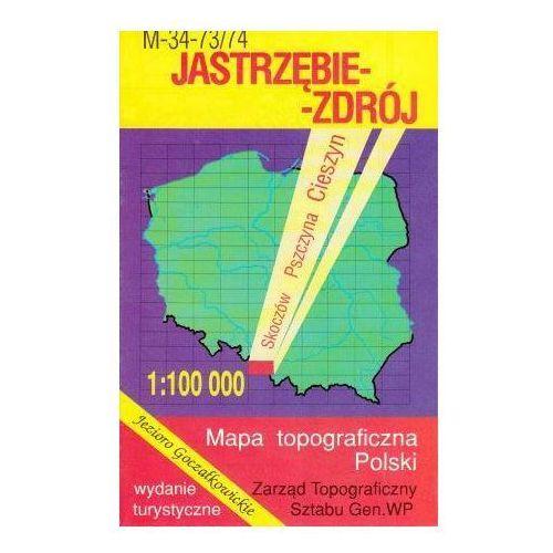 M-34-73/74 Jastrzębie-Zdrój. Mapa topograficzno-turystyczna 1:100 000 wyd. WZ-Kart, produkt marki Wojskowe Zakłady Kartograficzne