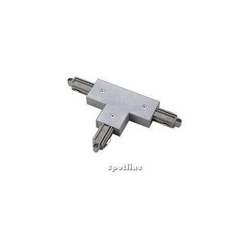 Oferta T-coupler for 1-phase high-voltage track, protection conductor left, silver grey z kat.: oświetlenie