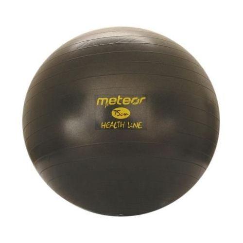 Piłka Fitness  75 cm z pompką czarna, produkt marki Meteor