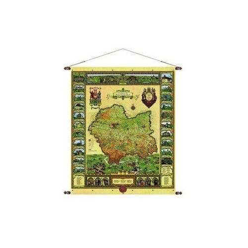 Województwo małopolskie mapa ścienna 97x120 cm , produkt marki Pergamena