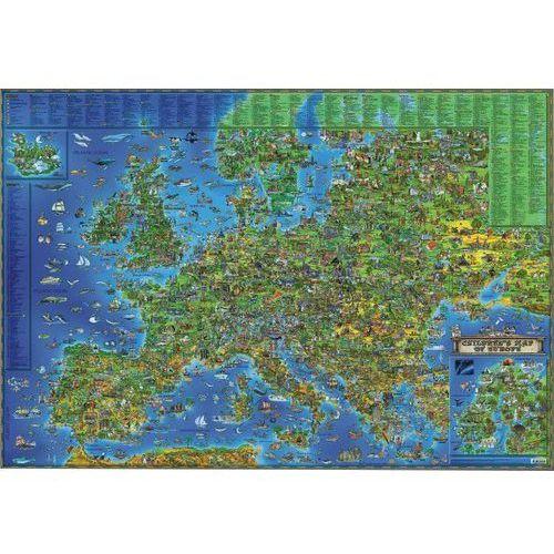 Europa mapa ścienna dla dzieci tuba od SELKAR
