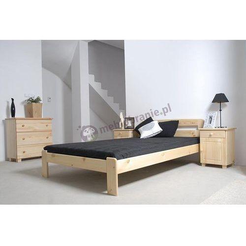 Łóżko drewniane 120x200cm Saranda ze sklepu Meblobranie.pl
