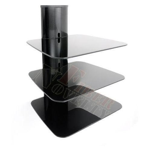 Półka audio video DVD hartowane szkło i aluminium - DVD88B, marki Fiber Novelty do zakupu w Uchwyty LCD