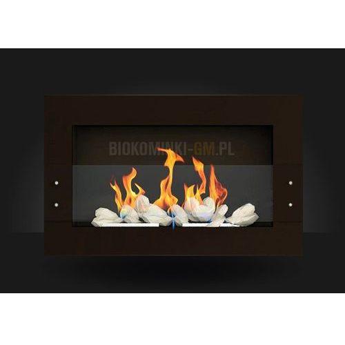 Biokominek 650x400 Brązowy z szybą by Globmetal - oferta [555bd041834f33df]