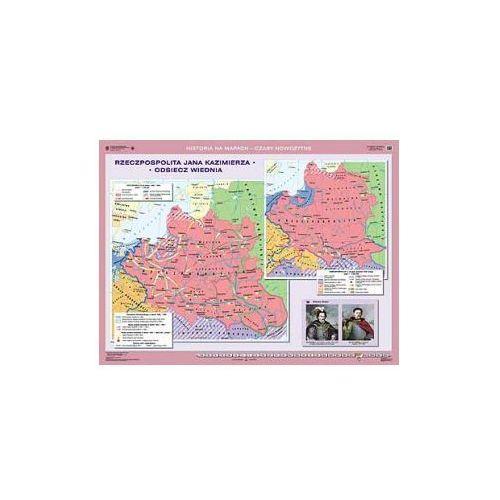 Produkt Rzeczpospolita Jana Kazimierza. Odsiecz Wiednia/Rzeczpospolita w czasach saskich. Mapa ścienna., marki Nowa Era
