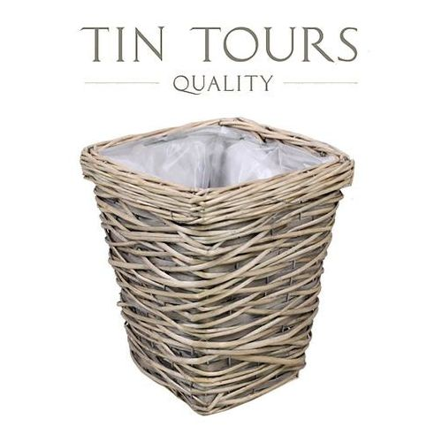Produkt DUŻA DONICA WIKLINOWA / OSŁONKA 26x26x31 cm, marki Tin Tours Sp.z o.o.